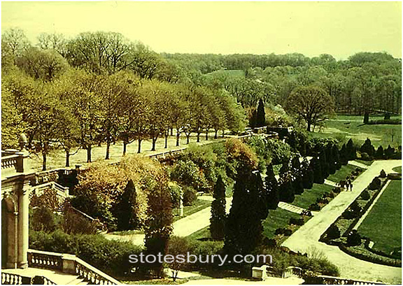 Maple Allee from the Upper Terrace c. 1947