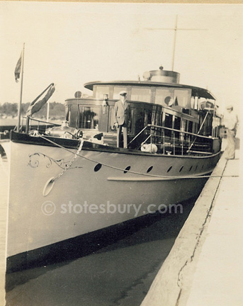 E.T. Stotesbury on the Nedeva 1934